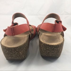 10c29b7bd7 Clarks Shoes | Temira Compass Cork Wedge Sandals 75 | Poshmark